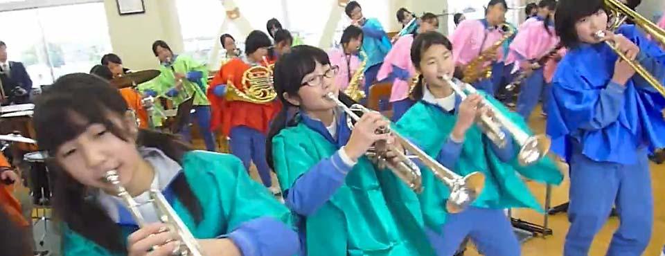 "Isesaki Daiichi JHS Band performs ""Tequila"""