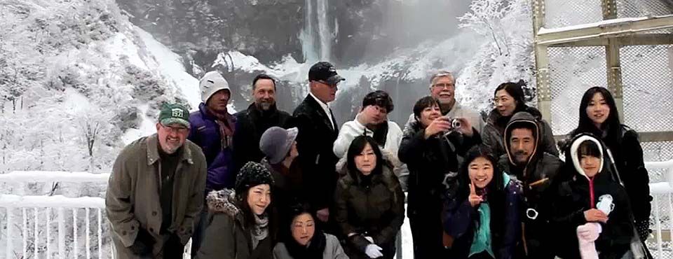 Nikko, Japan – SSCA Group photo at waterfall