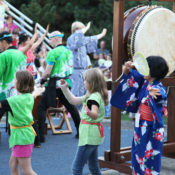 Learning the Japanese festival dance