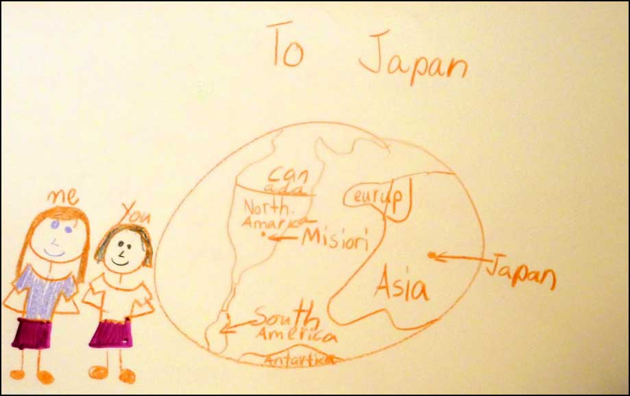 Art Cards to Japan from Summit Preparatory School