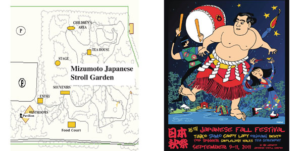 Japanese Fall Festival Program and Map