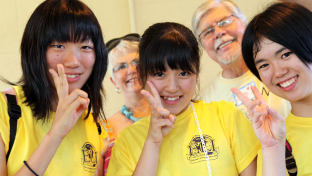 Isesaki students and board members Bob Stevens and Jane Fast