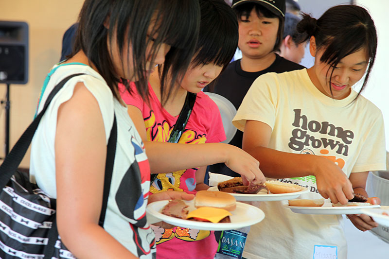 Isesaki Japan  city pictures gallery : Isesaki Students Welcomed at BBQ in Japanese Stroll Garden