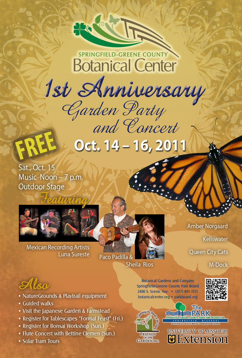 Botanical Center Garden Party & Concert scheduled for Oct. 14-16
