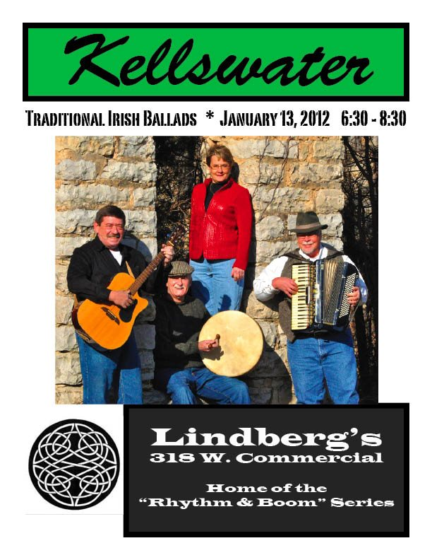 Kellswater at Lindberg's on January 13