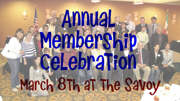 Invitation to Annual Membership Celebration on March 8