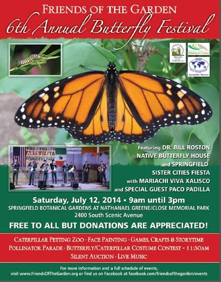 ArtsFiesta! moves to Butterfly Festival on July 12, 2014