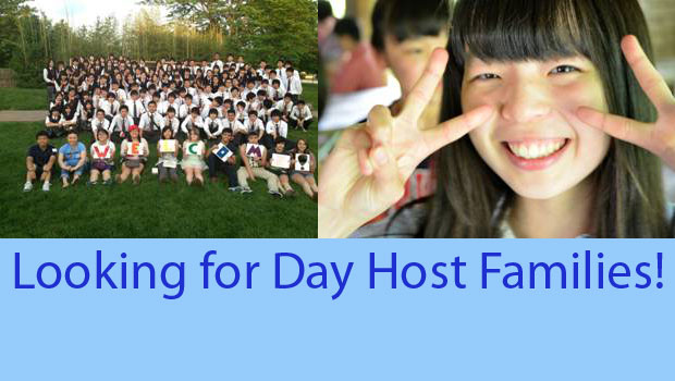 Day Host Families needed for August 8, 2015