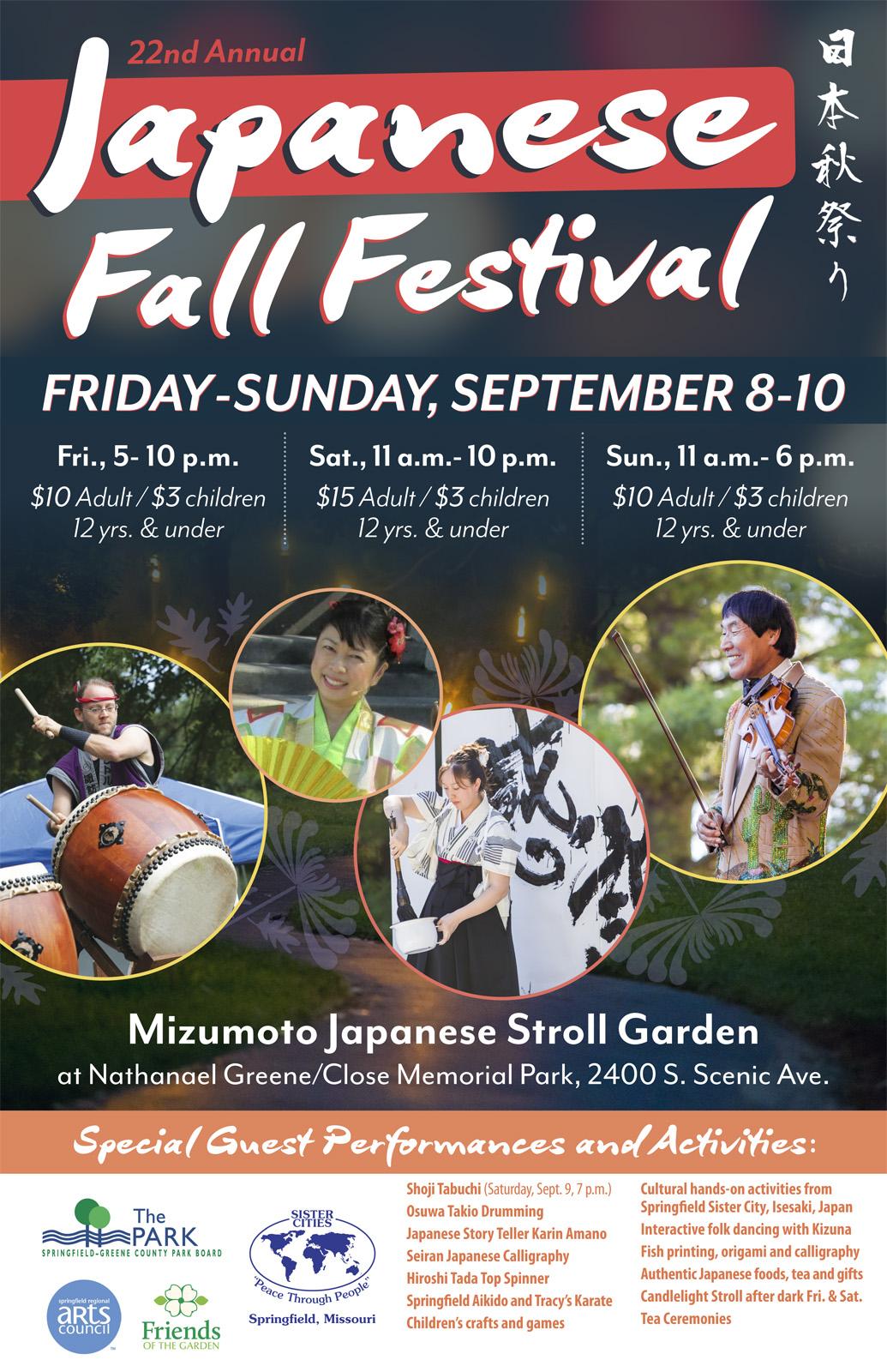 Japanese Fall Festival Sept. 8-10, 2017