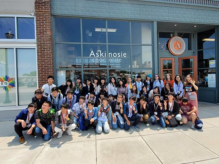 120 Isesaki students visit Springfield, enjoy time with day hosts